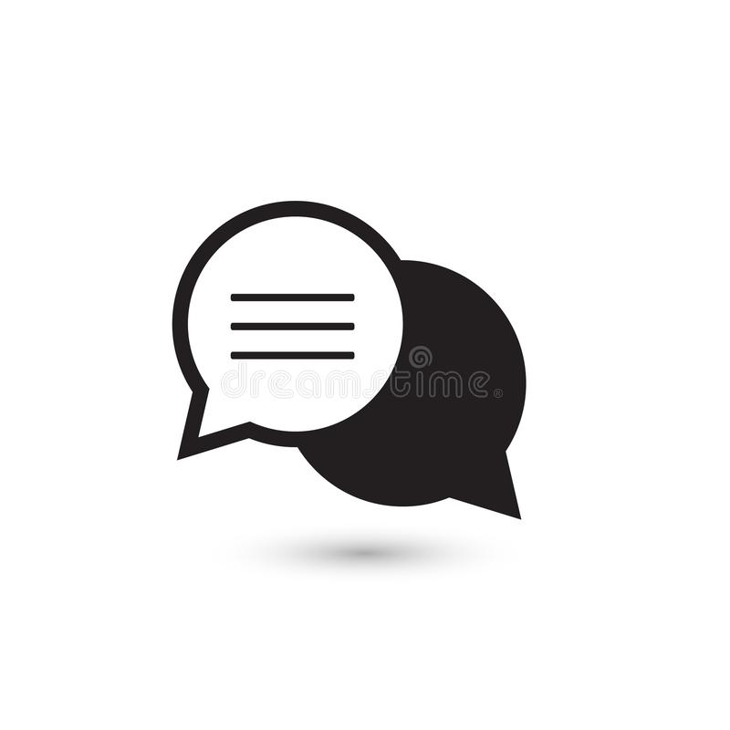 Speech bubble thin, vector icon on white background, isolated vector illustration