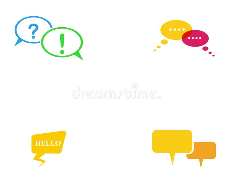 Speech bubble vector icon design. royalty free illustration