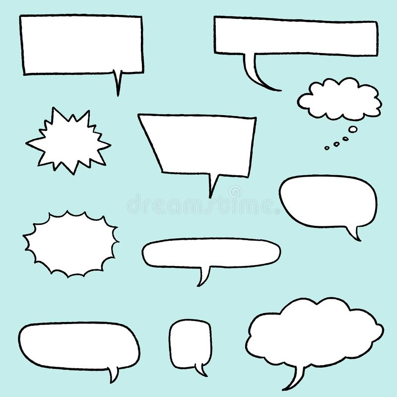 Cartoon speech bubble royalty free illustration