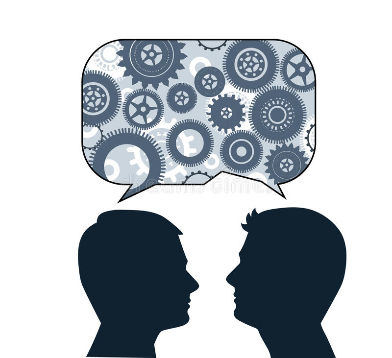 Free Speech Bubble With Male Profiles Stock Images - 31314964