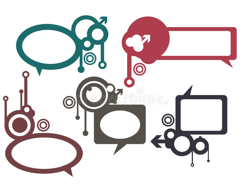 Download Speech bubbles stock vector. Illustration of blot, background - 12907032