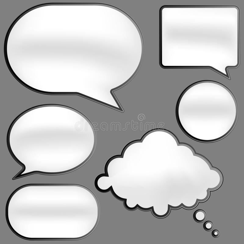 Download Speech Bubbles stock vector. Illustration of modern, comment - 20493349