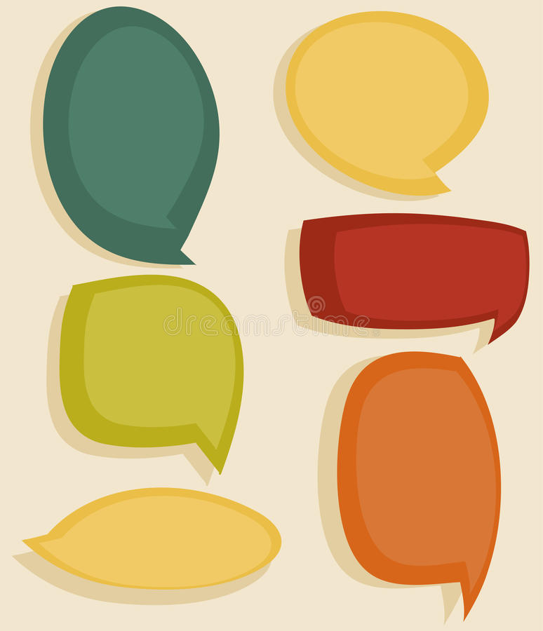 Download Speech bubbles stock vector. Image of expression, cloud - 21831388