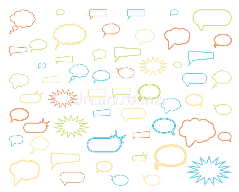 Download Speech bubbles stock vector. Image of image, dialog, shadow - 23848826