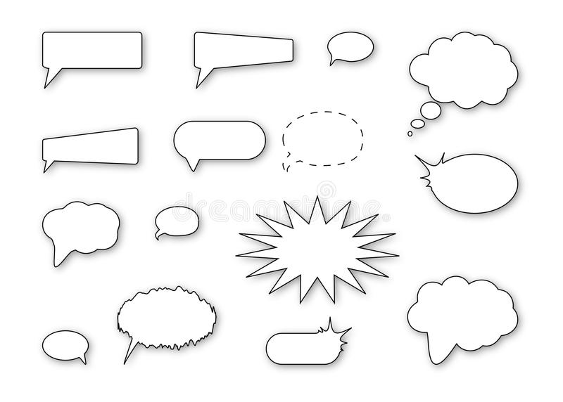 Download Speech bubbles stock vector. Illustration of dialog, illustrate - 23848832