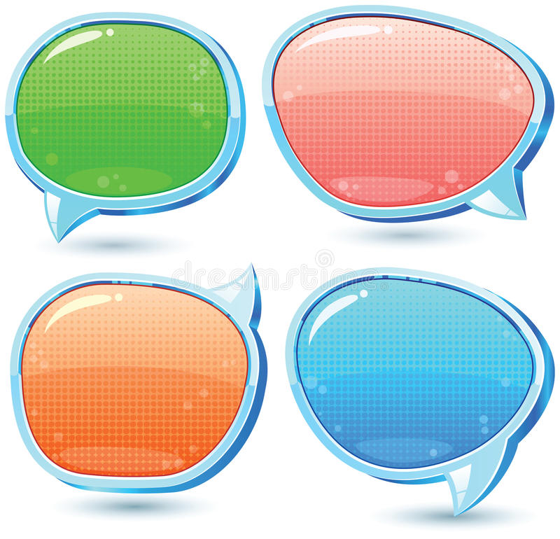 Download Speech bubbles stock vector. Image of glass, blank, advice - 24183375
