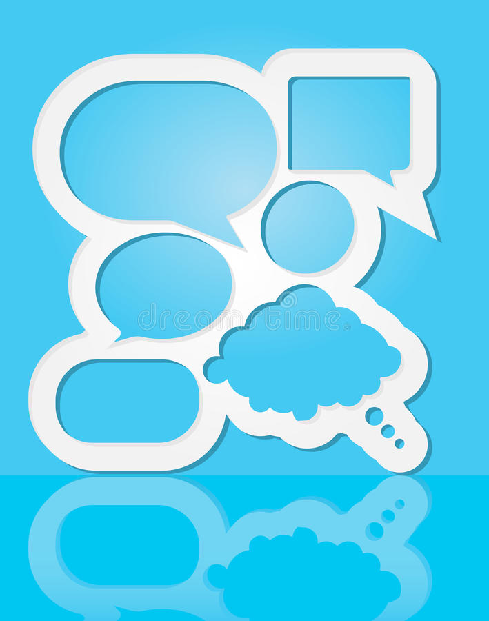 Download Speech Bubbles stock vector. Illustration of advertise - 25396103