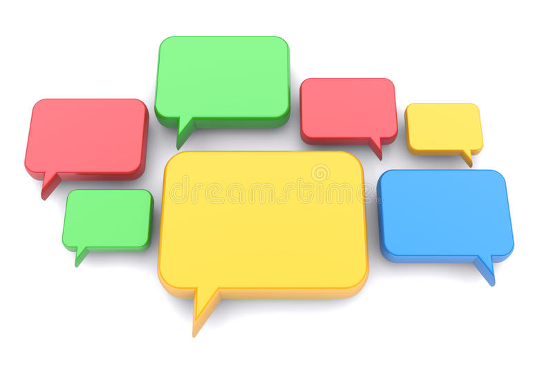 Download Speech bubbles stock illustration. Image of group, blue - 25466446