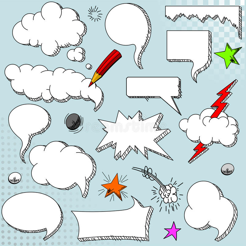 Download Speech bubbles stock vector. Illustration of cloud, vector - 25996774