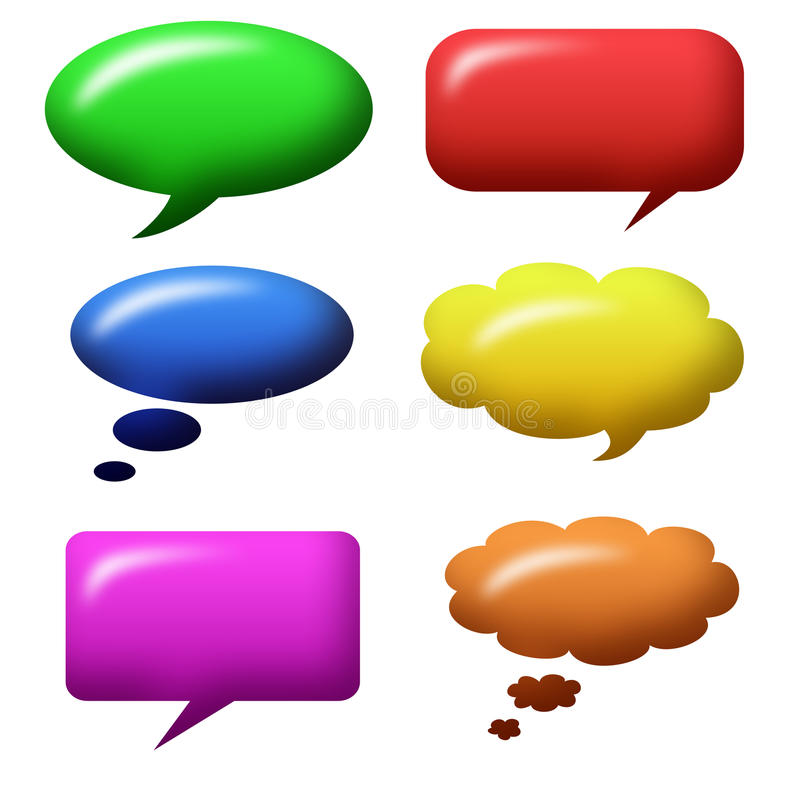 Download Speech bubbles stock illustration. Illustration of multicolored - 26113076