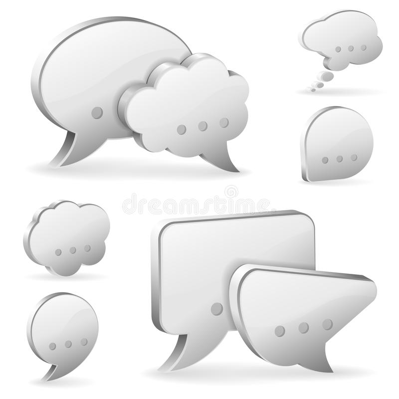 Download Speech Bubbles stock vector. Illustration of isolated - 28136406