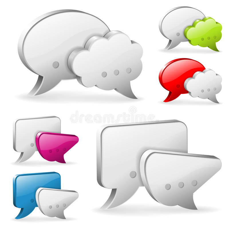 Download Speech Bubbles stock vector. Image of modern, illustration - 28136409