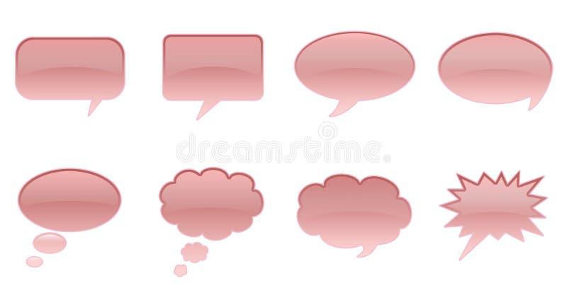 Speech Bubbles. Set Glossy Colourful Speech Bubble Icons, Comic Symbols vector illustration