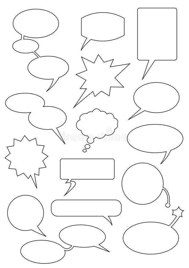 Speech_bubbles illustration stock