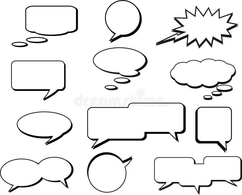 Download Speech Bubbles stock vector. Image of talk, communication - 7929557