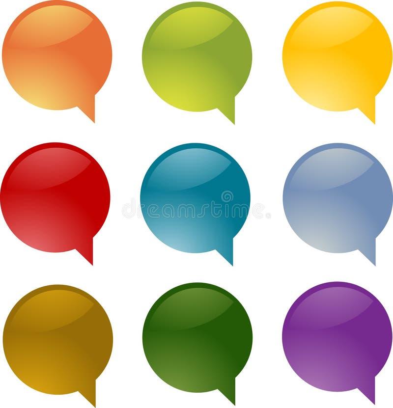 Download Speech bubbles stock illustration. Image of bubbles, label - 8587270
