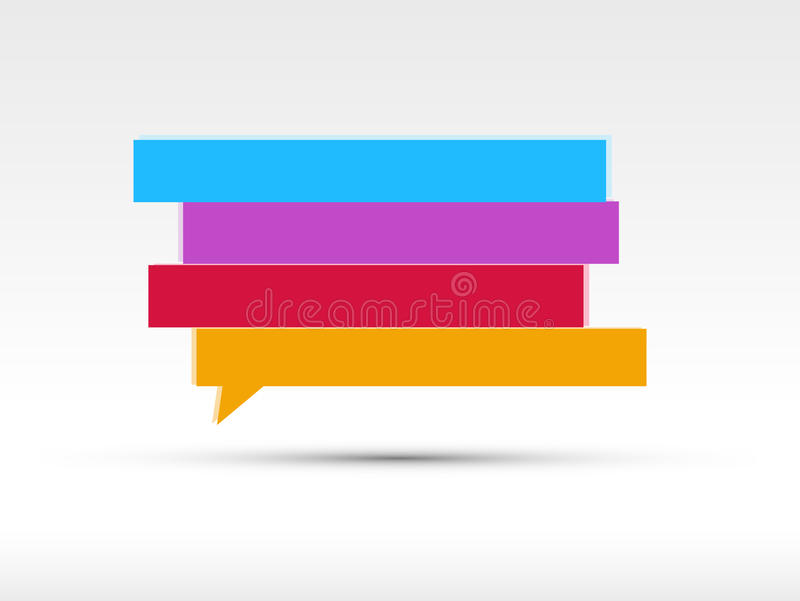 Download Speech bubbles banner stock illustration. Image of clip - 20971213