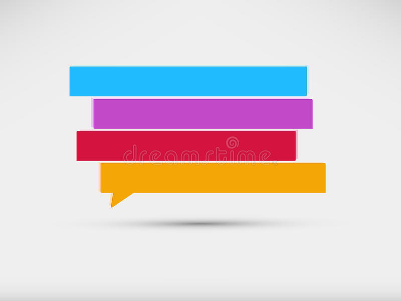 Speech Bubbles Banner Royalty Free Stock Photography