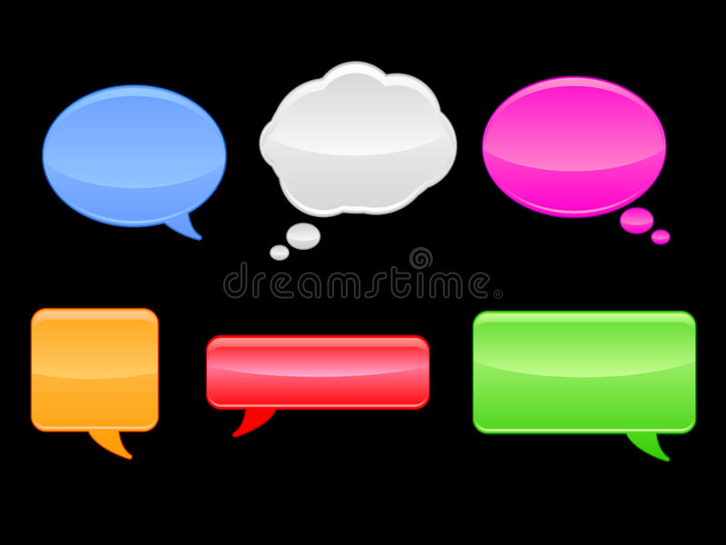 Download Speech Bubbles / EPS stock vector. Illustration of communicate - 15105292