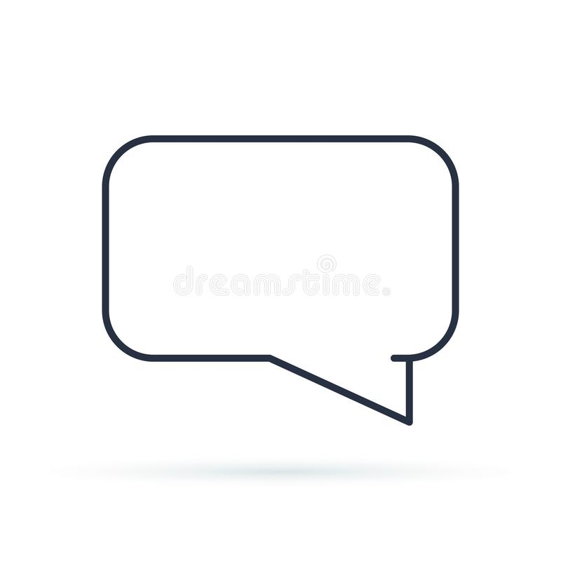 Speech bubbles icon flat icon. Single high quality outline symbol of info for web design or mobile app. royalty free illustration