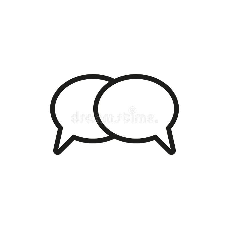 The speech bubbles icon. Talk symbol. Flat royalty free illustration