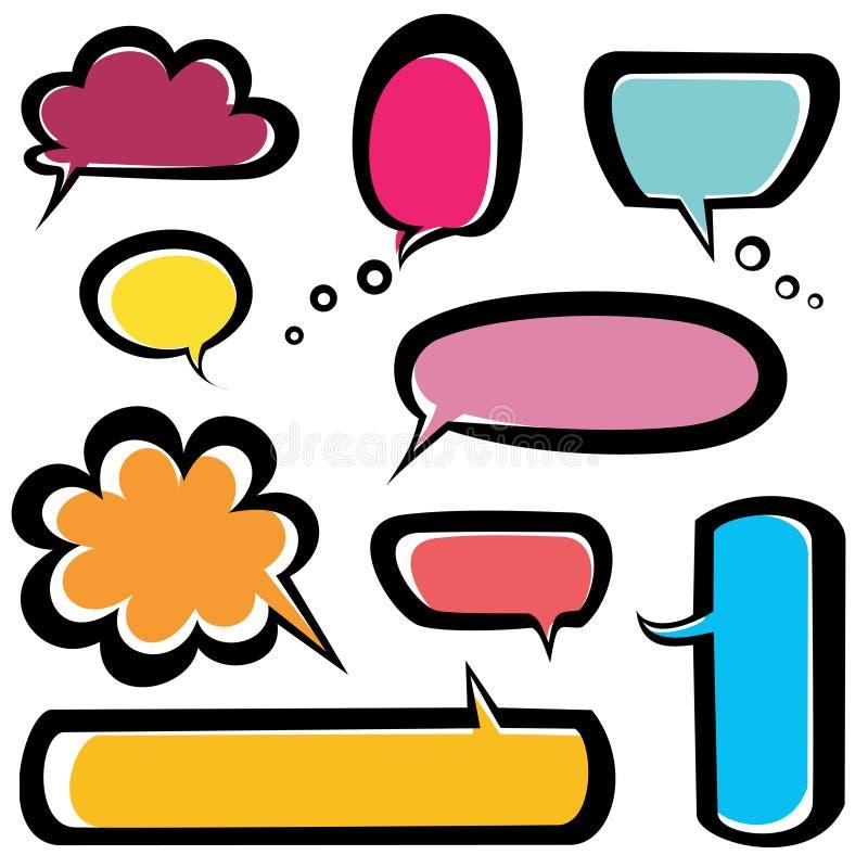 Speech bubbles icons set royalty free illustration