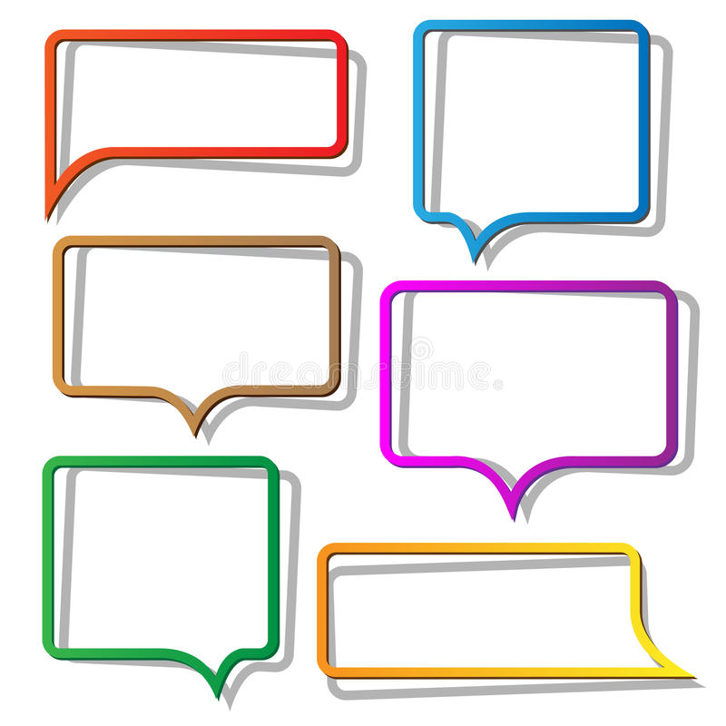 Speech bubbles from paper royalty free illustration