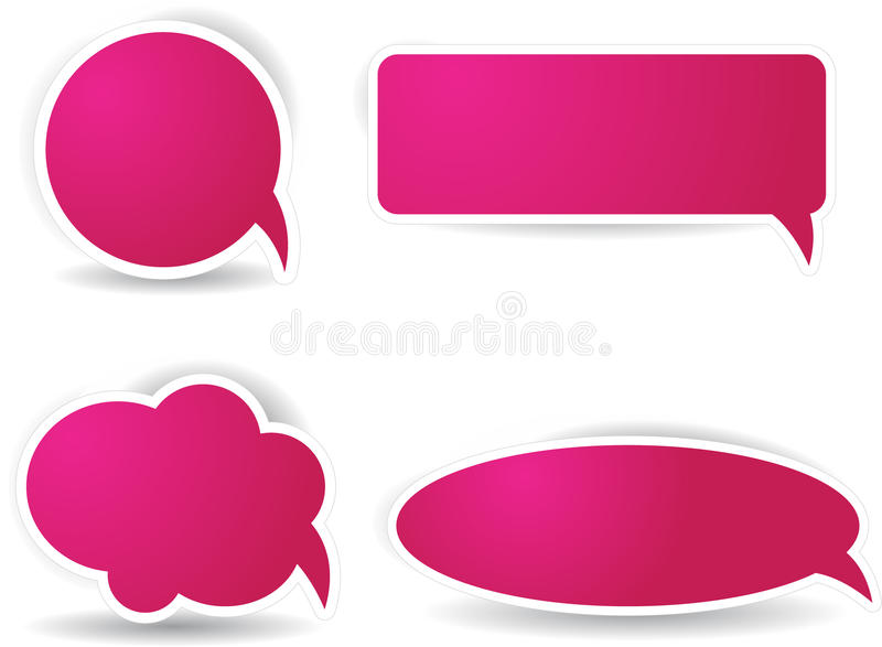 Download Speech Bubbles In Pink Color Stock Vector - Image: 19992448