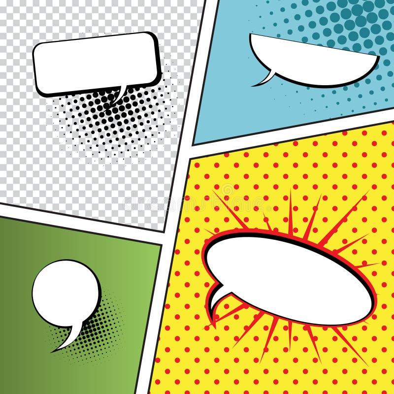 Speech Bubbles in Pop-Art Style royalty free illustration