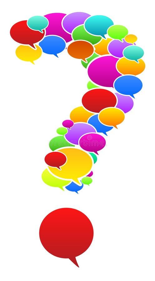 Speech Bubbles In Question Mark Shape stock photo