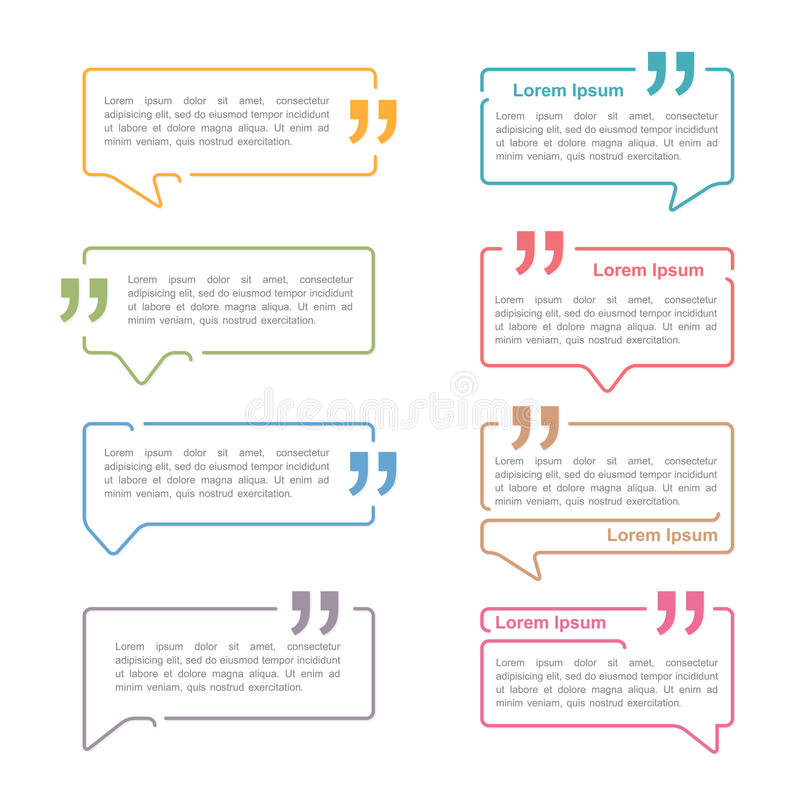 Speech Bubbles with Quotes vector illustration