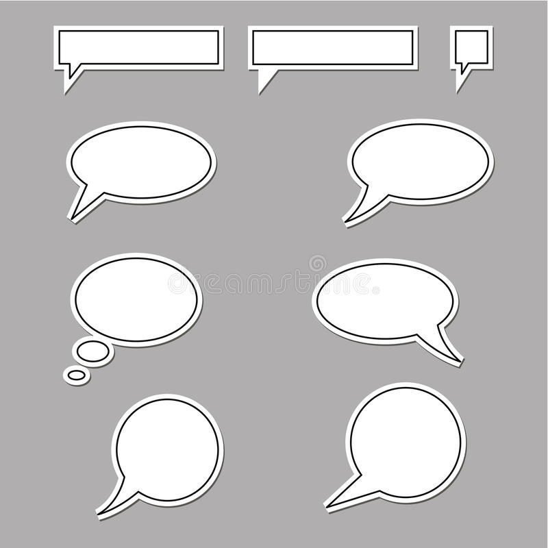 Speech Bubbles Round And Square Stock Images