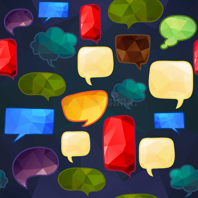 Speech bubbles seamless pattern. Endless texture can be used for printing onto fabric, paper or scrap booking, wallpaper, pattern fills, web page background vector illustration