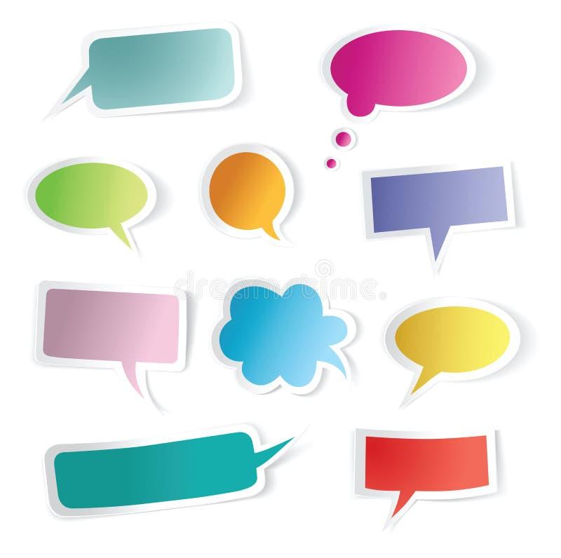 Download Speech bubbles set stock vector. Image of cloud, orange - 20821425