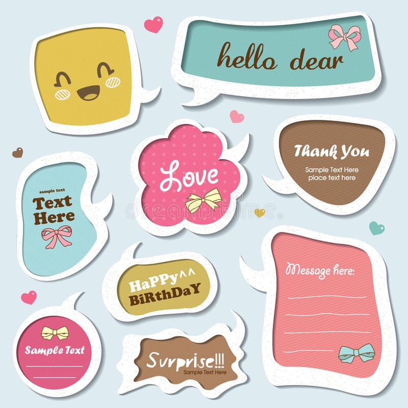 Download Speech bubbles set stock vector. Image of pattern, cartoon - 21473524