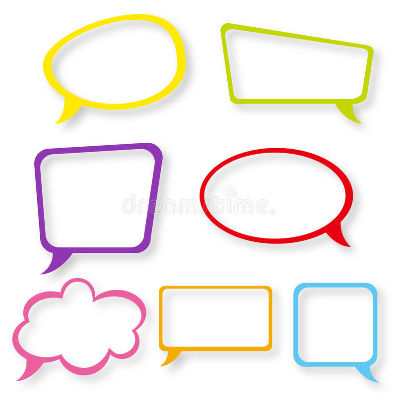 Free Speech Bubbles Set Royalty Free Stock Photos - 25110738