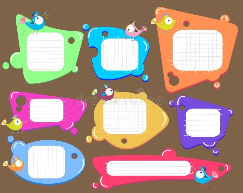 Speech bubbles set, color