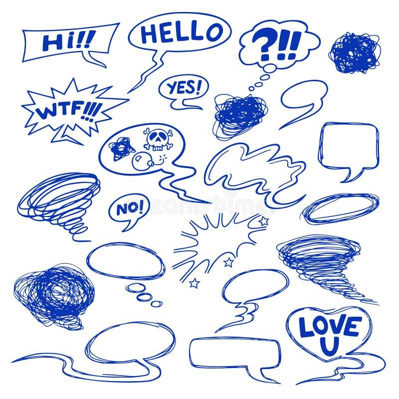 Speech bubbles vector illustration
