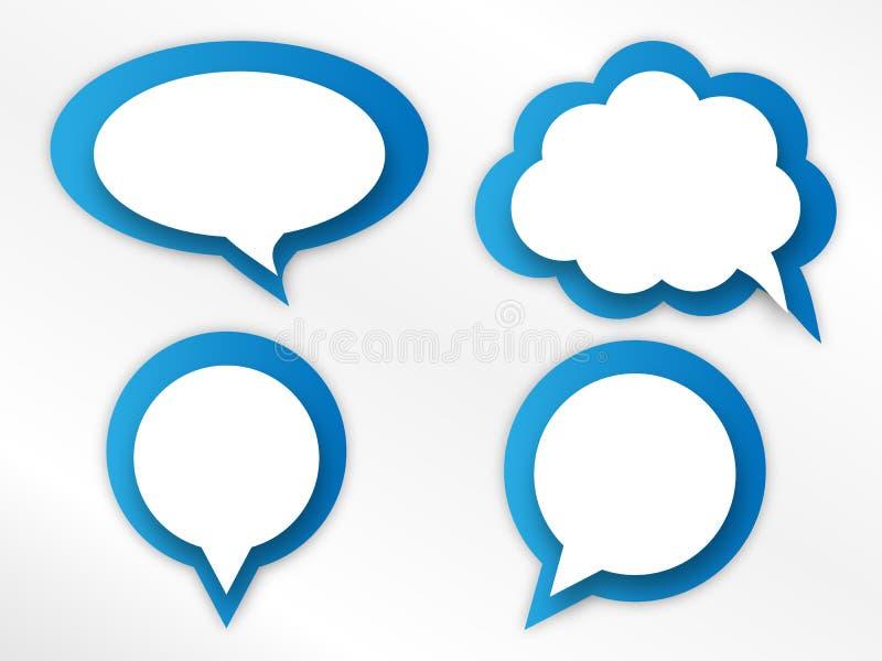 Speech bubbles set vector illustration