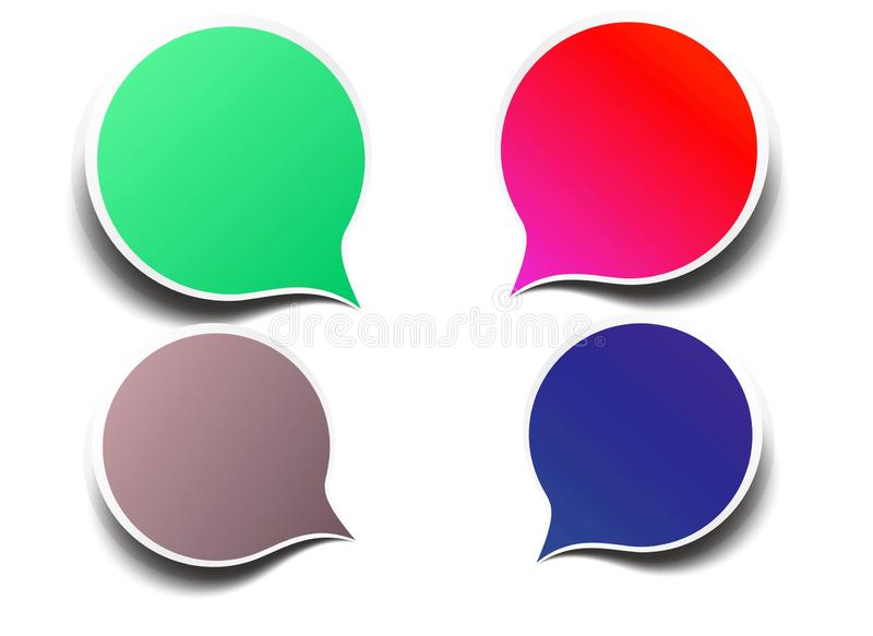 Speech bubbles with space for text on white background. royalty free stock photography