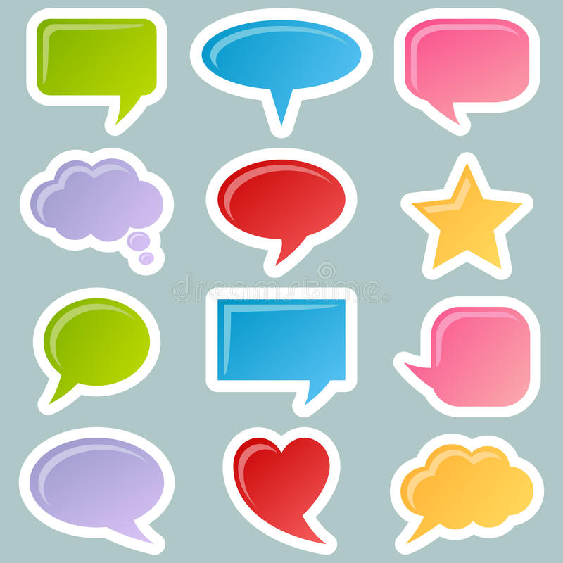 Download Speech Bubbles Stickers Set Royalty Free Stock Images - Image: 23155029