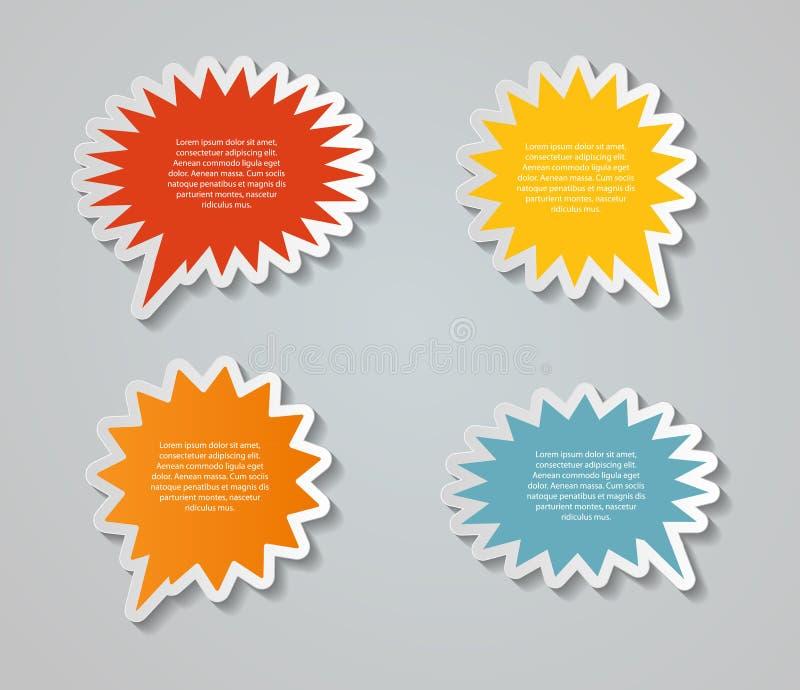Speech Bubbles Stickers Vector Illustration royalty free illustration