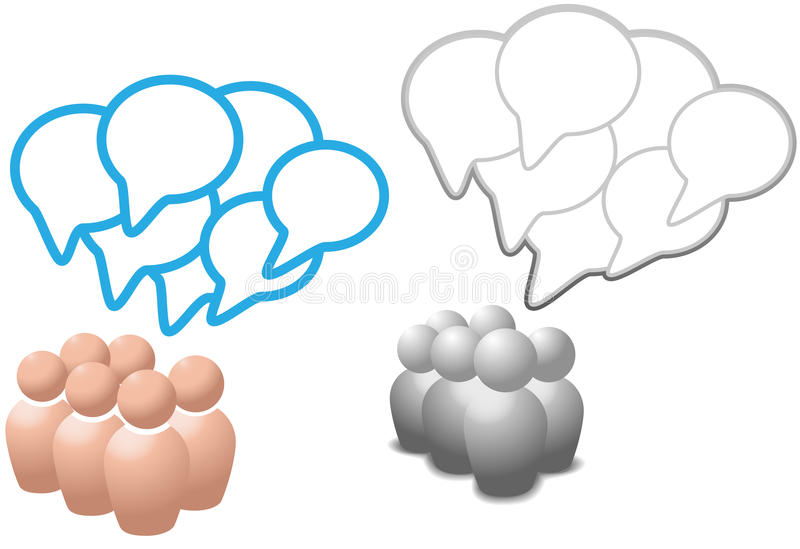 Speech bubbles symbol people talk social media royalty free illustration