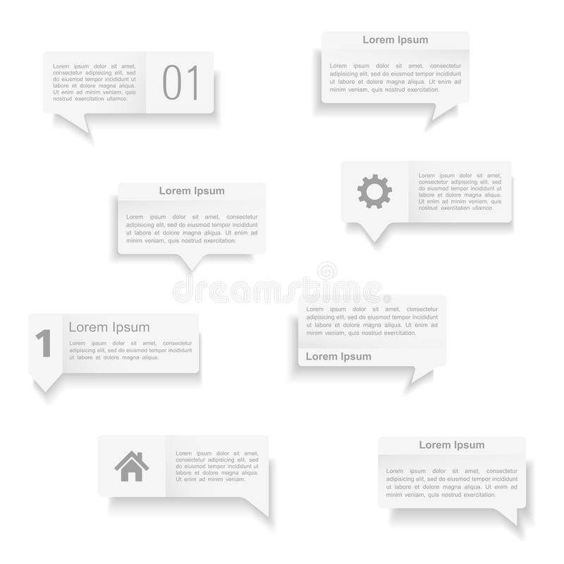 Download Speech Bubbles Templates stock vector. Illustration of paper - 39162105