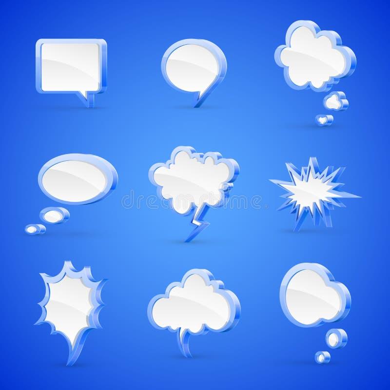 Speech bubbles royalty free illustration