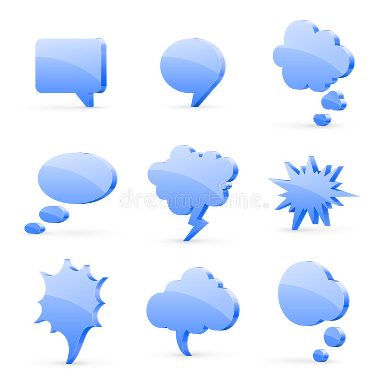 Speech bubbles stock illustration