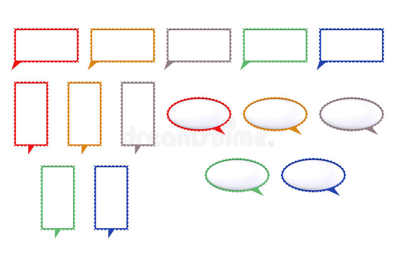 Download Speech Colored Bubbles Shaped Mark Stock Illustration - Image: 28193157