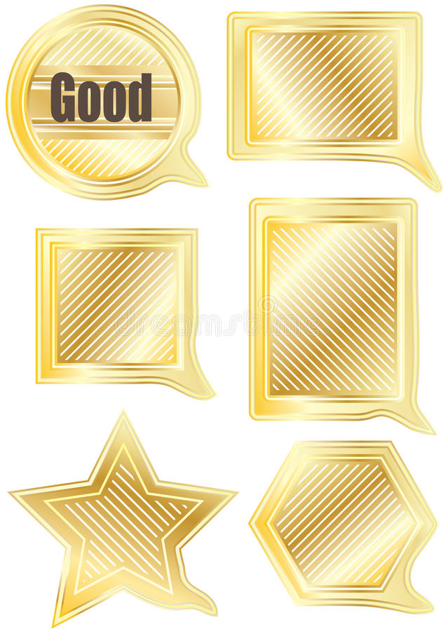 Download Speech Gold Shape Set_eps stock vector. Image of collection - 20973307