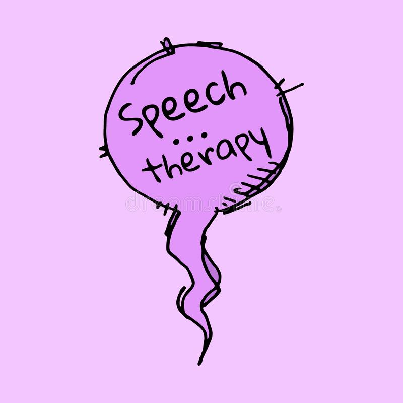 Speech therapy bubble royalty free stock photography
