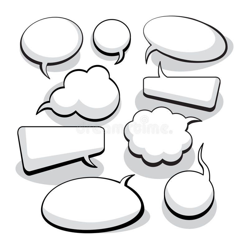 Download Speech And Thought Bubbles stock vector. Image of cloud - 10258018
